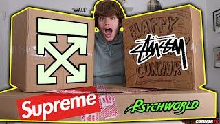 HUGE Hypebeast Mystery Box for My Birthday! Off White, Nike, Supreme