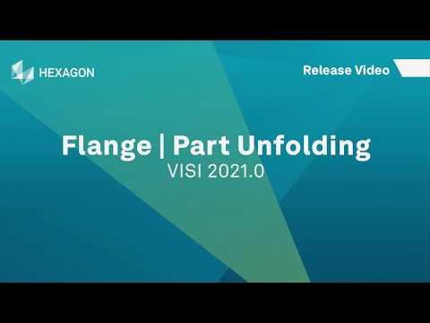 Flange - Part Unfolding | VISI 2021.0