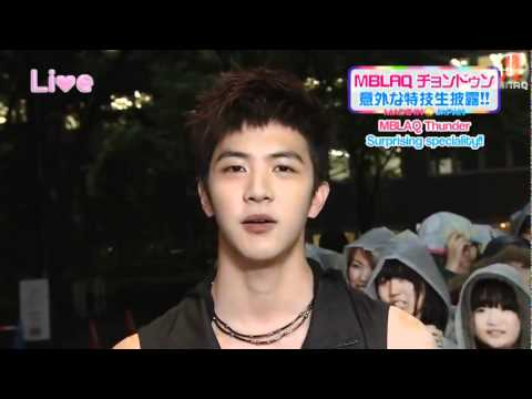 [MBLAQ]Cheondung speaking in 3 languages (English-Tagalog-Japanese)