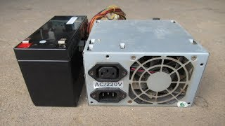 DIY PC Power Supply To Battery Charger, Science Project 2019