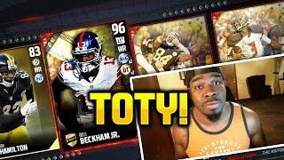THESE GUYS SAVAGES TOTY PACKS OUT FOR BLOOD 96 Odell Beckham 94 Sean Lee Madden 17 !!! Madden NFL 17