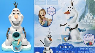 Olaf Snow Cone Maker Disney Frozen Machine Toy Review