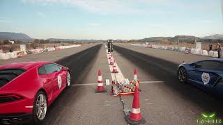 !! Lamborghini Huracan VS Aventador VS Honda MUST WATCH !!