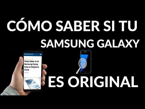 Cómo Saber si mi Samsung Galaxy Note es Original o Chino