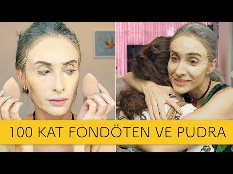 100 Kat Fondöten Ve Pudrayla Sokağa Çıktım | 100 LAYERS OF FOUNDATION CHALLENGE