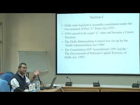 CPR-CSH Workshop on 'Changing party system in Delhi and the emergence of Aam Aadmi Party', P1: Talk