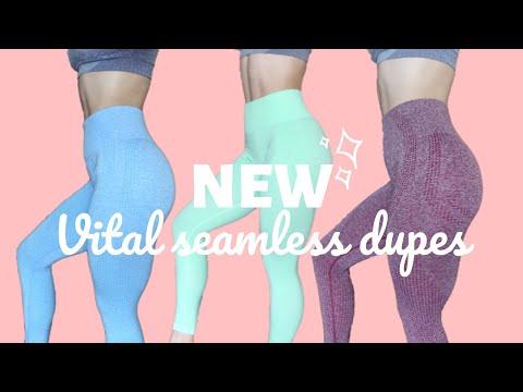 c66560ed75ad31 $18 New Vital Seamless Leggings on Aliexpress!? | EXACT Gymshark Dupes -  YouTube