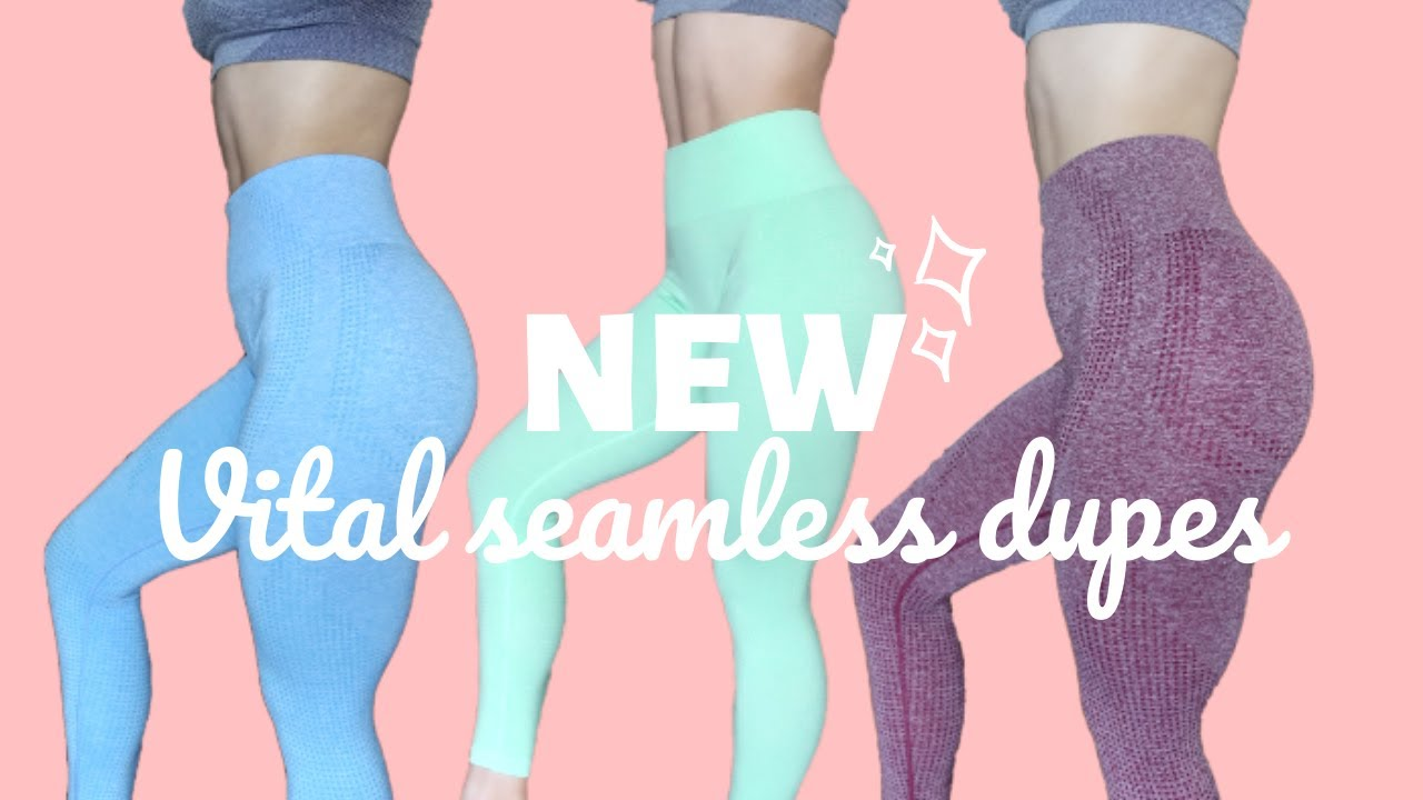 839ecc821cdcff $18 New Vital Seamless Leggings on Aliexpress!? | EXACT Gymshark Dupes