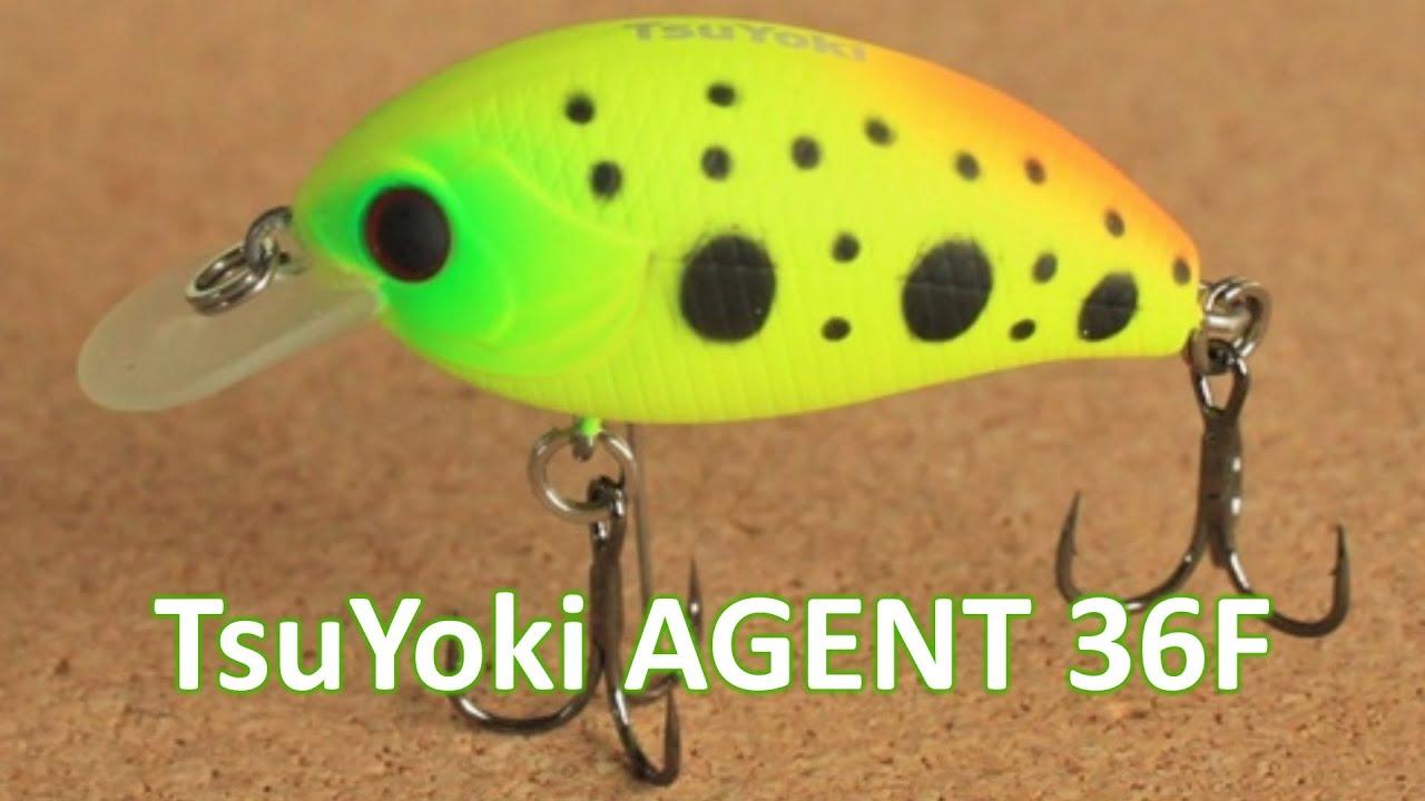TsuYoki AGENT 36F - воблер на голавля. На реке!