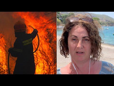 'Weinende Kinder, es war furchtbar': Touristin berichtet von Großbrand in kleinem Urlaubsort