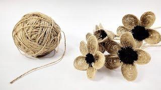 How to Make Jute Flower | DIY Rope Flower | Crafts Junction