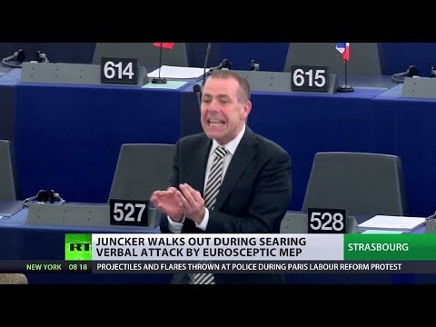 EU Will Regret This! Juncker walks away from verbal attack by eurosceptic MEP