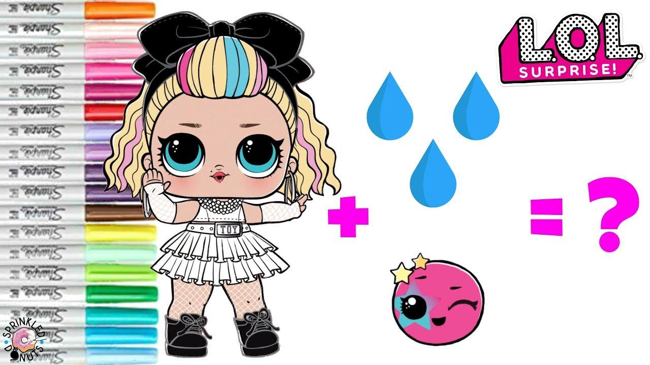 LOL Surprise Dolls Coloring Book Page Color Change 80s BB