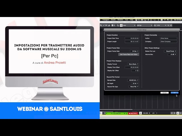 Andrea Proietti | Impostazioni per trasmettere audio...su Zoom.us [per Pc] | webinar@SaintLouis