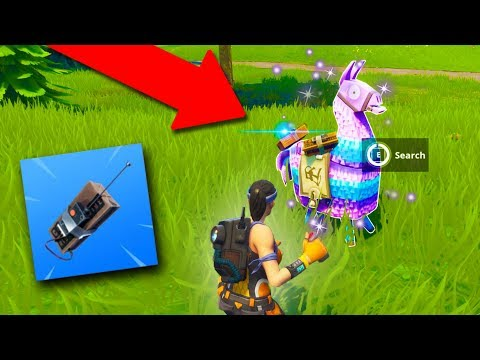 C4 STICKY BOMB TRAP! *NEW LLAMA CHEST!* | Fortnite Battle Royale