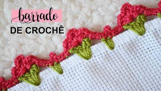 Barrado De Crochê – Flor De Duas Cores