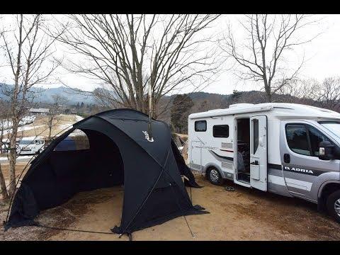 【車中泊・ドローン空撮】キャンピングカーでオートキャンプ/石岡市つくばねオートキャンプ場