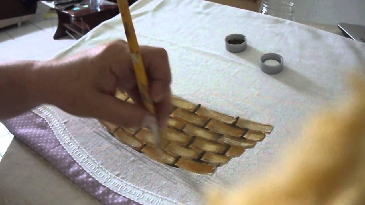 Pintando cesta com sorayacarneiro artes youtube - Cestas de mimbre para bebes ...
