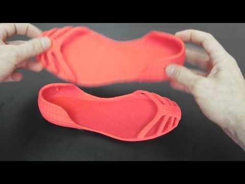 Calçado flexível impresso em 3D