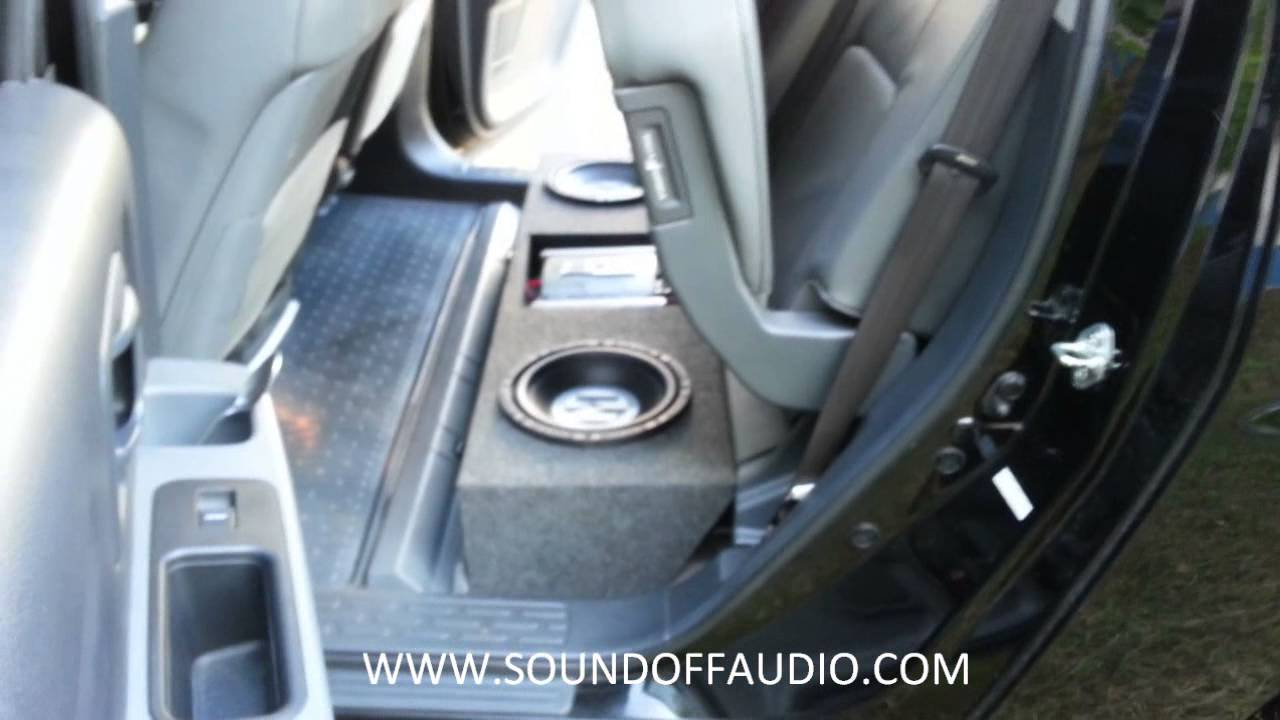Honda Ridgeline Speaker Box with Amp rack. - YouTube