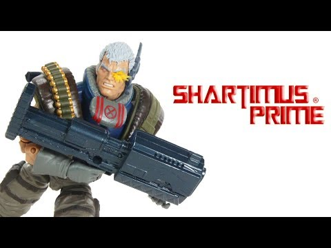 Marvel Legends Cable Sasquatch BAF 2018 Deadpool Wave 1 Hasbro Comic Action Figure Toy Review