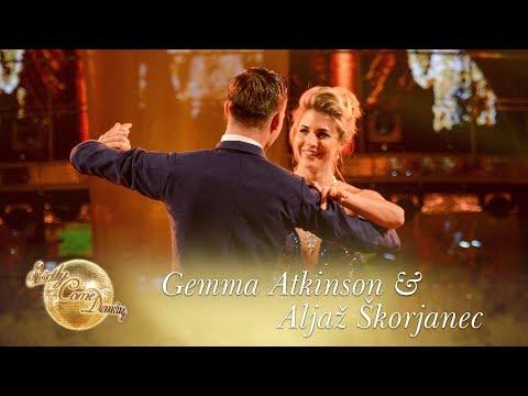 Gemma Atkinson and Aljaž Skorjanec Waltz to 'Un Giorno Per Noi'   Strictly Come Dancing 2017