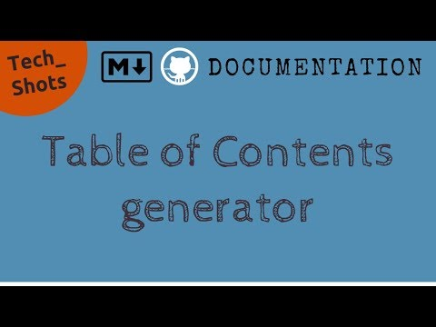 Table Of Contents Generator For Markdown   Productivity   Tech Primers