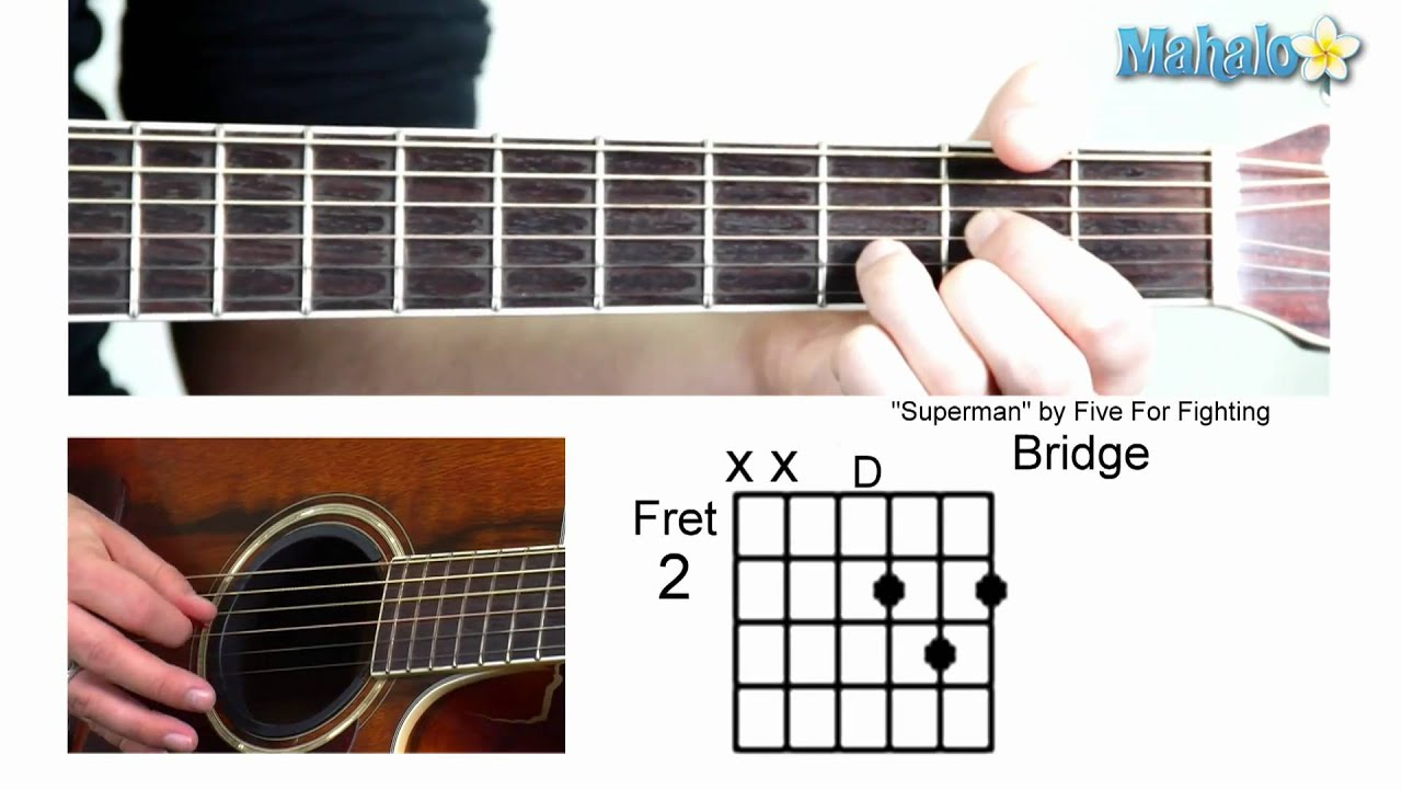 How to play superman by five for fighting on guitar youtube hexwebz Choice Image