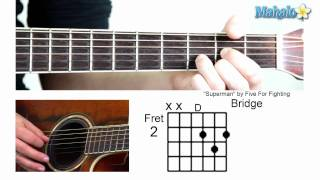 """How to Play """"Superman"""" by Five For Fighting on Guitar"""