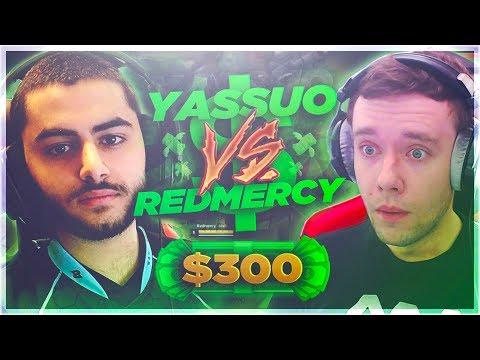 YASSUO VS REDMERCY $300 1v1 REMATCH SHOWDOWN!! League of Legends