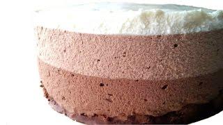 "Муссовый торт ""Три шоколада"" | Triple-Chocolate Mousse Cake"