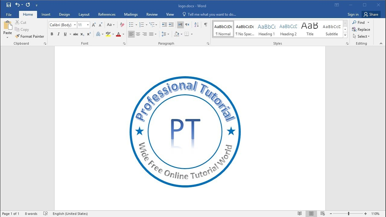 Create And Make Logo In Ms Word