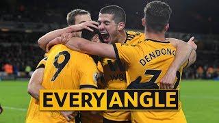 Jiménez second goal v West Ham | Every Angle