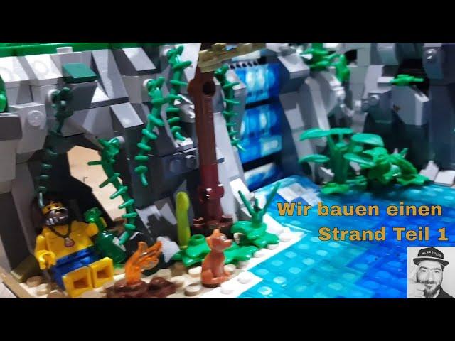 Wir bauen einen Strand mit allem was dazugehört Teil 1 - Bautechniken - Legomasters