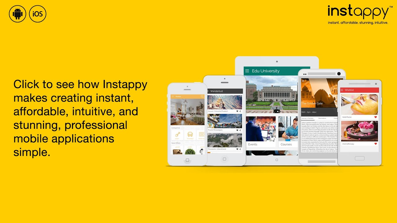 App Builder for Android & iOS   App Maker   Instappy