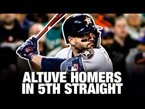 Altuve homers in 5th straight game