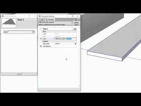 สร้างเหล็กแบบเลือกขนาดได้ SketchUP Dynamic Components