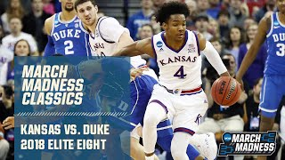 Duke v. Kansas in 2018 Elite Eight (Full Game)