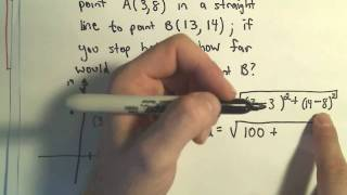 The Distance Formula and Finding the Distance Between Two Points - Example 1