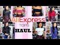 Aliexpress try-on tops HAUL