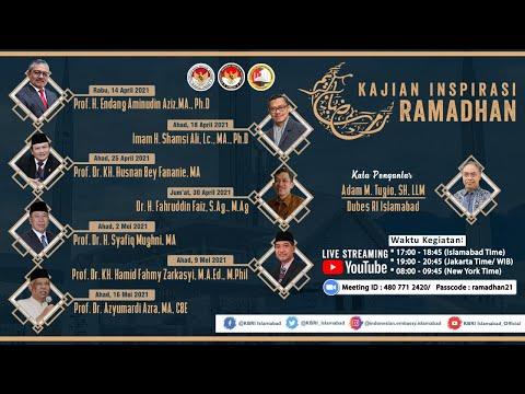 Kajian Inspirasi Ramadhan (5) bersama Prof. Dr. H. Syafiq Mughni, MA