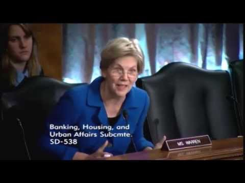 Elizabeth Warren blasts New York Fed chief