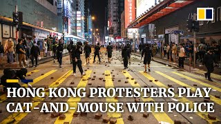 Tear gas fired in Tsuen Wan as flash mobs spring up across Hong Kong