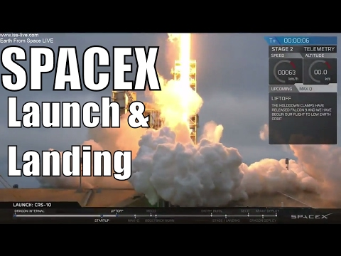 LIVE : SpaceX CRS-10 Falcon 9 Rocket Launch & Post Launch Br