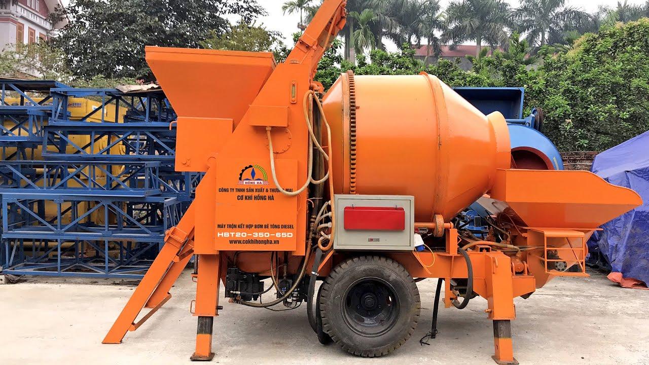 Máy bơm trộn bê tông 2 chức năng diesel Hồng Hà HBT20-350-65D – Máy Xây  Dựng Hồng Hà