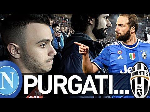 NAPOLI 3-2 JUVENTUS   PURGATI...REAZIONE LIVE AI 2 GOL HIGUAIN COPPA ITALIA CURVA B HD