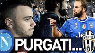 NAPOLI 3-2 JUVENTUS | PURGATI...REAZIONE LIVE AI 2 GOL HIGUAIN COPPA ITALIA CURVA B HD