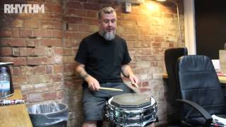 Clutch drummer Jean Paul Gaster gives Rhythm some rudiment tips