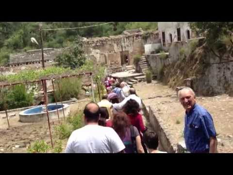 Pilgrims enter Sourp Magar Armenian Monastery in Turkish-occupied north Cyprus