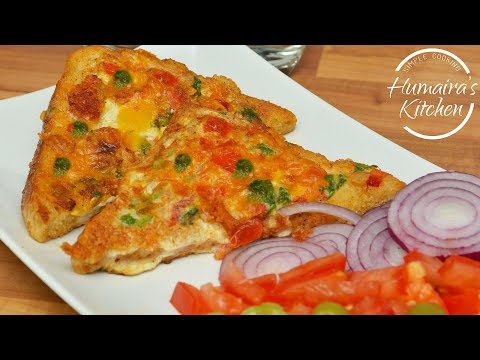 Cheese Egg Toast Sandwich - Special Breakfast Recipes - Kids Snack In Urdu | Hindi - Tea Time